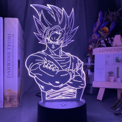 Anime Dragon Ball Goku 16 Colors Table Lamp