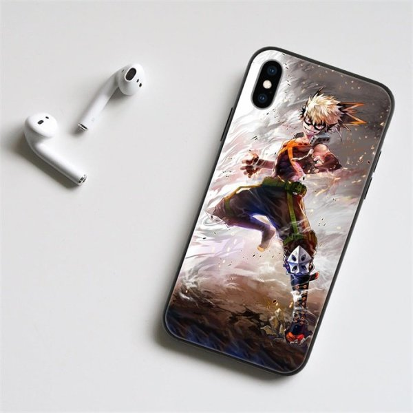 Anime My Hero Academia Bakugo LED Phone Case For iPhone