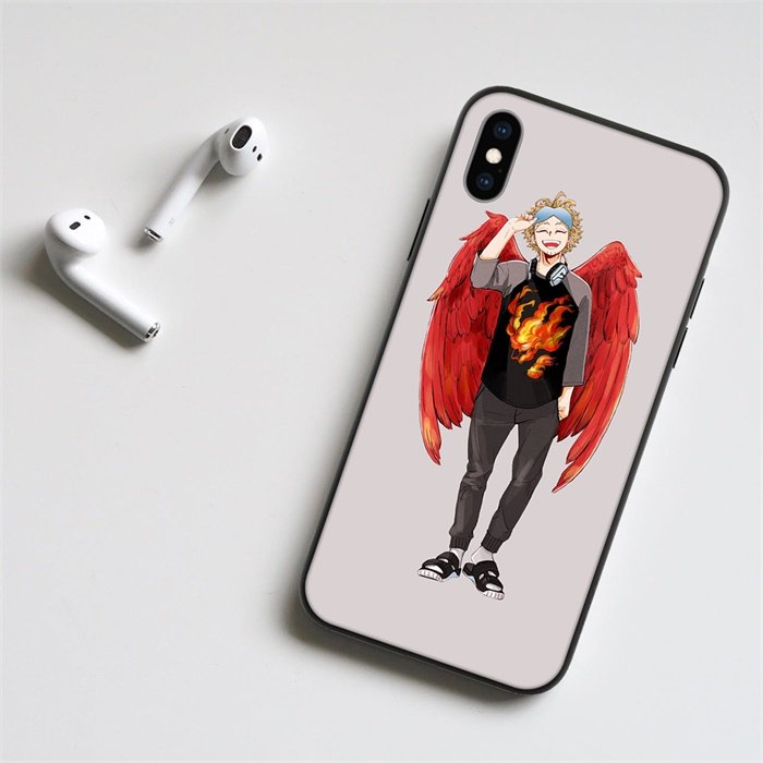 Anime My Hero Academia Hawks LED Phone Case For iPhone