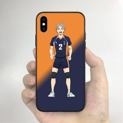 Anime Haikyuu!! Sugawara LED Phone Case For iPhone