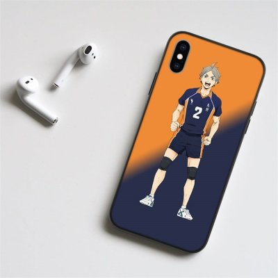 Anime Haikyuu!! Sugawara LED Phone Case For iPhone