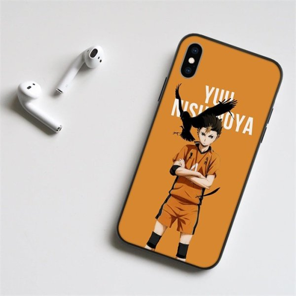 Anime Haikyuu Nishinoya LED Phone Case For iPhone