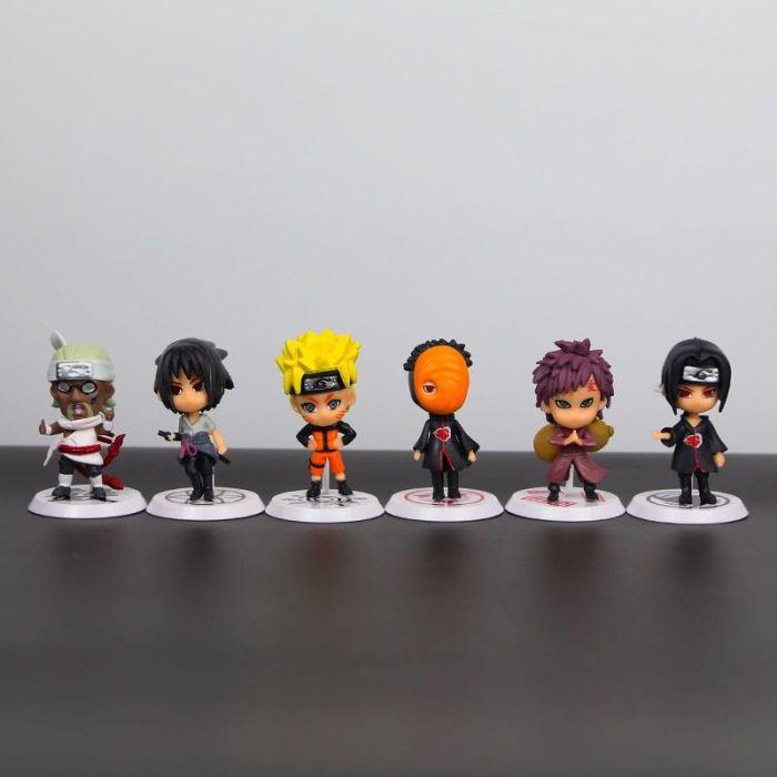 6pcs/set Naruto Sakura Kakashi Sasuke Action Figure