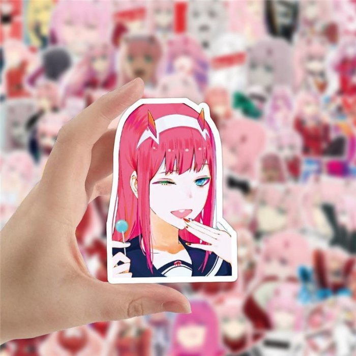 100PCS Darling in the Franxx Zero Two Stickers