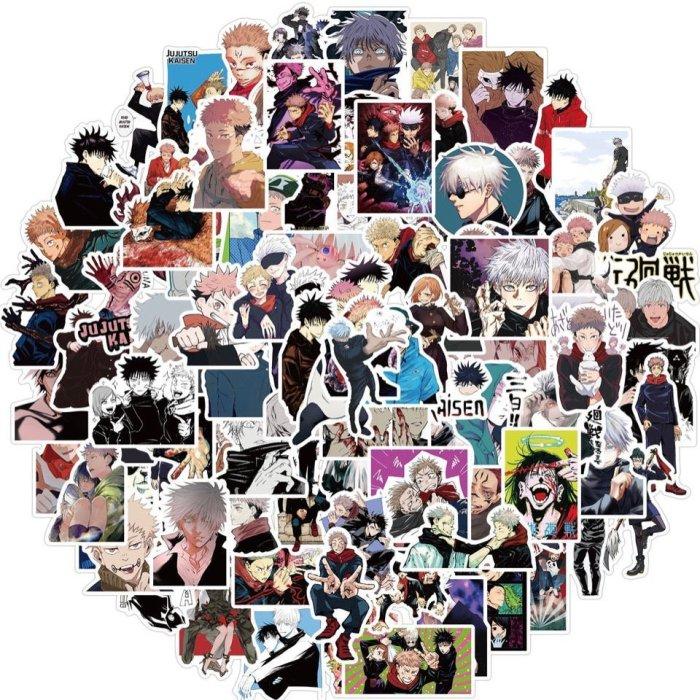 100PCS Anime Jujutsu Kaisen Satoru Gojo Sukuna Yuji Itadori Stickers