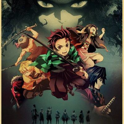 Anime Demon Slayer Kraftpaper Poster