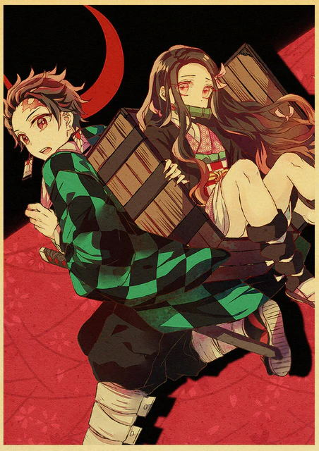 Anime Demon Slayer Kraftpaper Poster