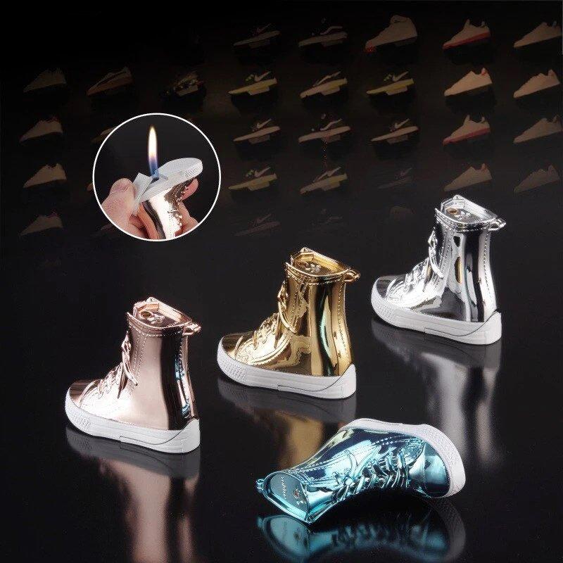 Creative high top shoe lighter