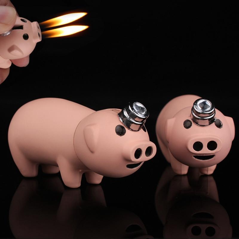 Creative Compact Little Piggy Jet Lighter