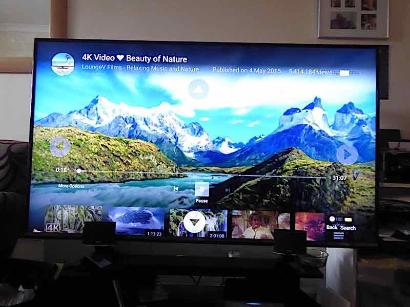 large TV, sheltered accommodation