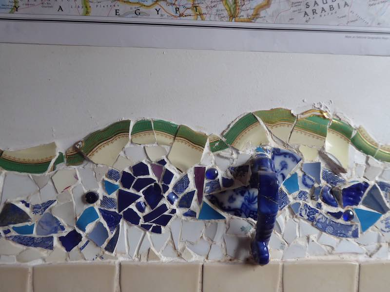 mosaic in kitchen family home