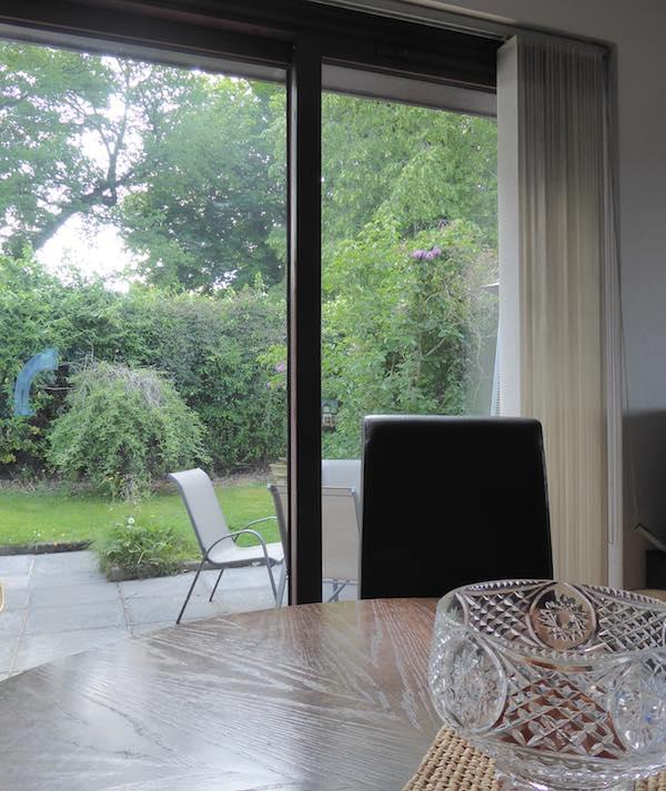 garden and kitchen view