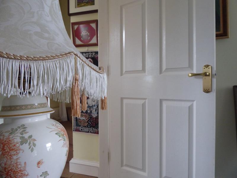 lamp door and paintings