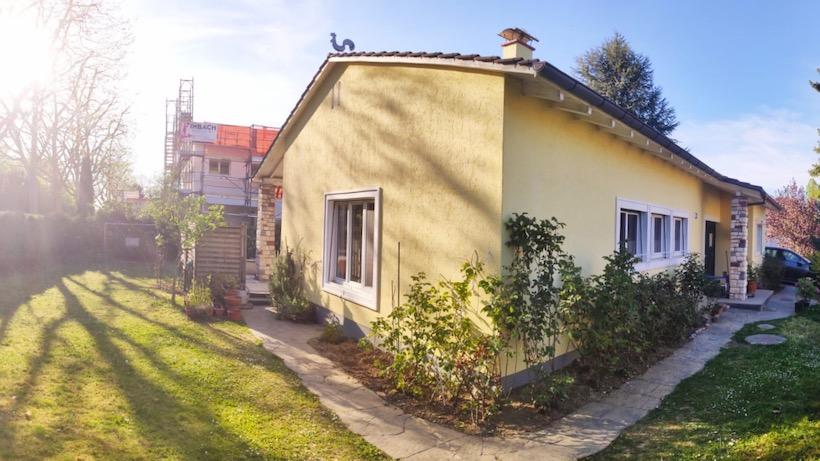yellow house in Switzerland