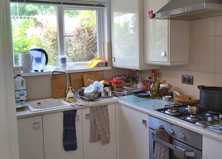 kitchen and cupboards
