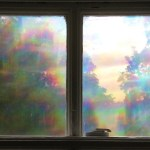 rainbow filtered window