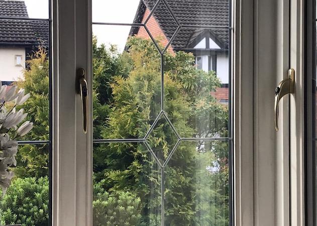 view through window to garden