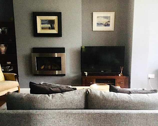 living area with sofas