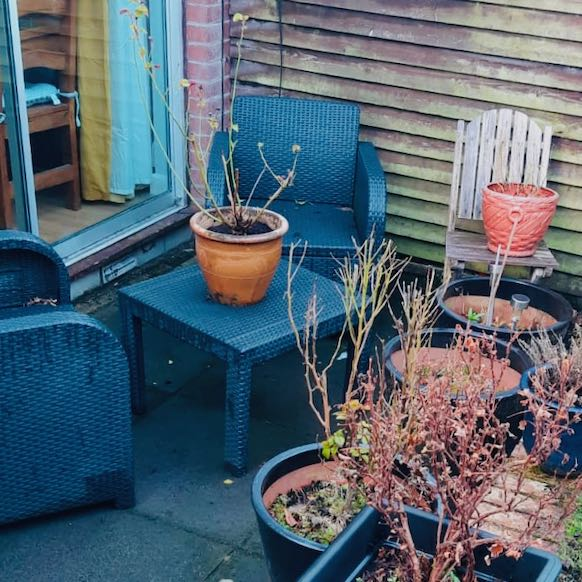 garden furniture outside