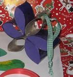 Etoile de Noël en rouleaux de papier