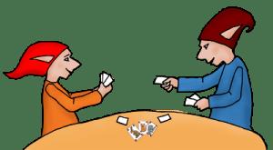 PoZ joue aux cartes
