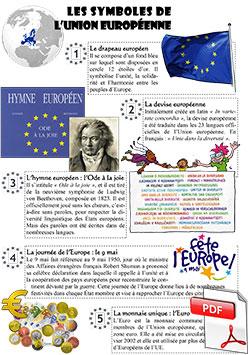 Fiche synthèse sur les symboles de l'Union européenne