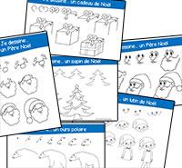 Des dessins guidés de Noël