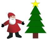 Découpage-collage Père Noël et sapin