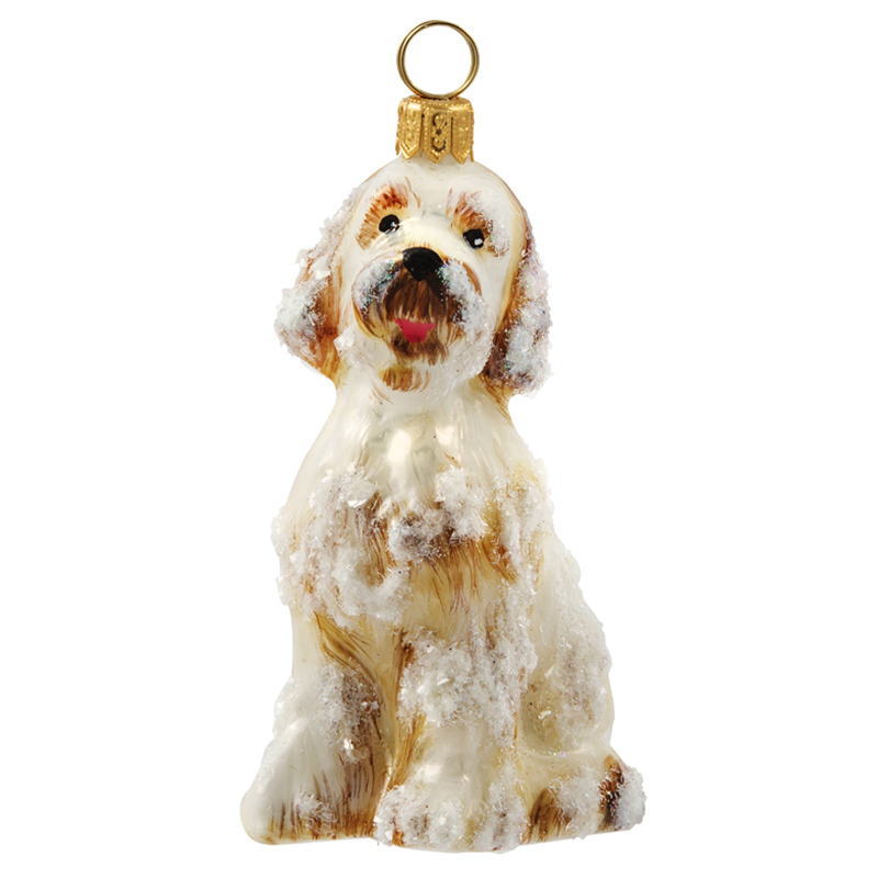 Goldendoodle Snowy Dog Ornament