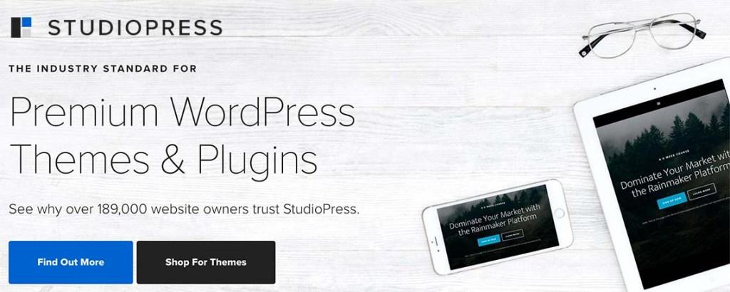 Studiopress premium WordPress themes with genesis