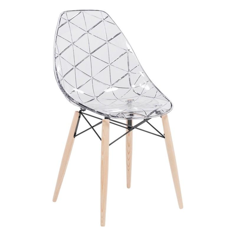 chaise design en bois prisma