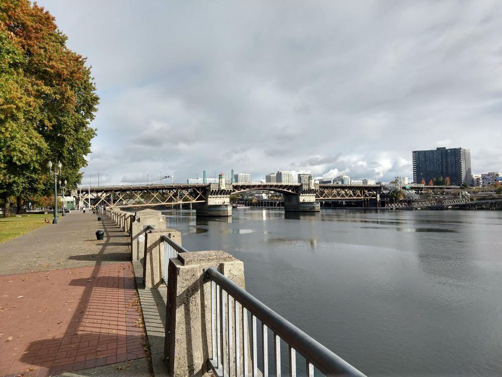 Riverfront park walk