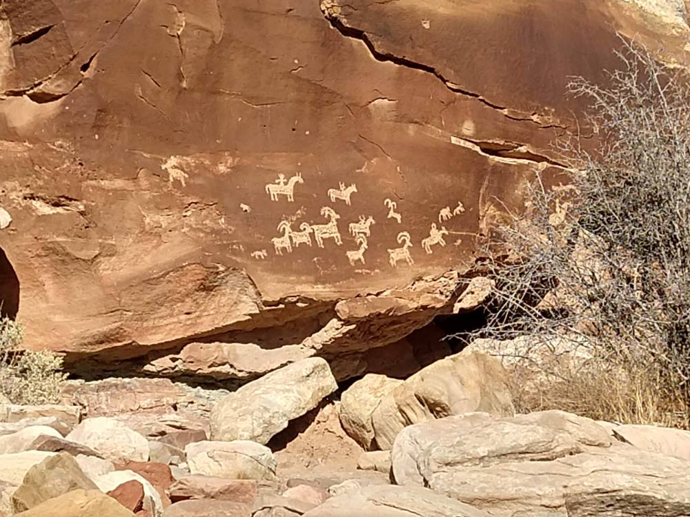 Petroglyphs located on a short offshoot of the Delicate Arch Trail