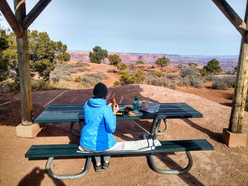 Picnic spot near White Rim area