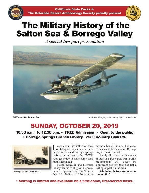Borrego & Salton Sea Military History