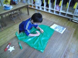 My kite 作り♪