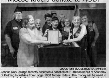 Moose Riders Donate to AOBI