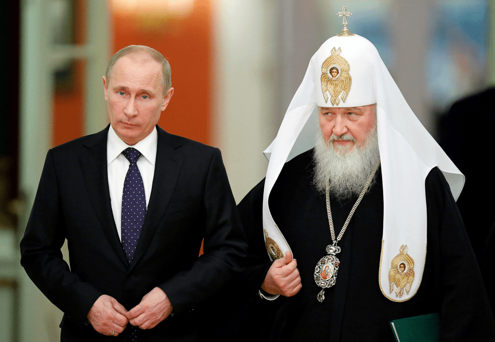 Russian President Vladmir Putin and Russian Orthodox Patriarch Kyrill