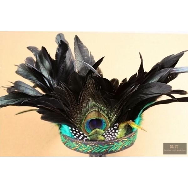 Women Peacock Feather Hair Accessories Fascinator Hair