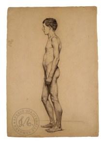 Σπουδή γυμνού άντρα, Εμμανουήλ Λαμπάκη