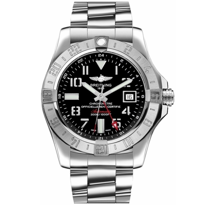 Best Replica Breitling Avenger II GMT Steel Black Dial A3239011.BC34.170A