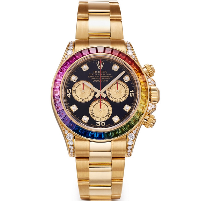Replica Rolex Cosmograph Daytona Rainbow Diamonds 116598 RBOW