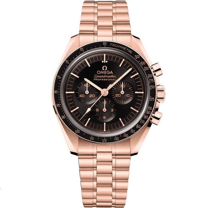 Replica Omega Speedmaster Moonwatch Professional Sedna Gold 310.60.42.50.01.001