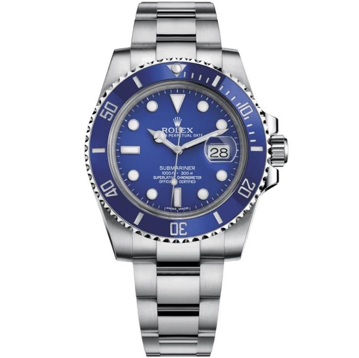 Replica Rolex Submariner Date 40mm Blue Dial 116619LB