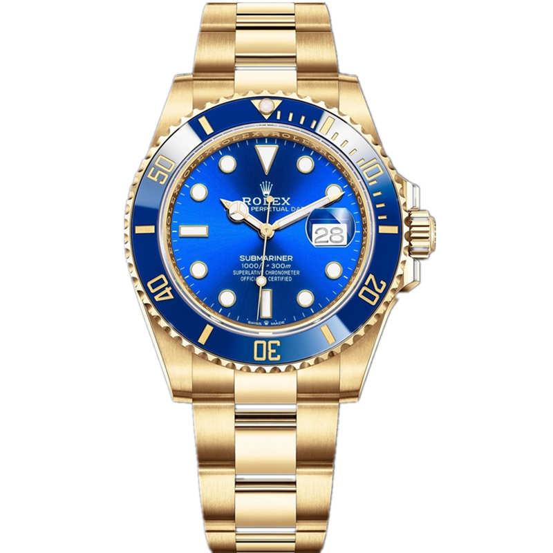 Replica Rolex Submariner Date Gold Blue Dial 126618LB