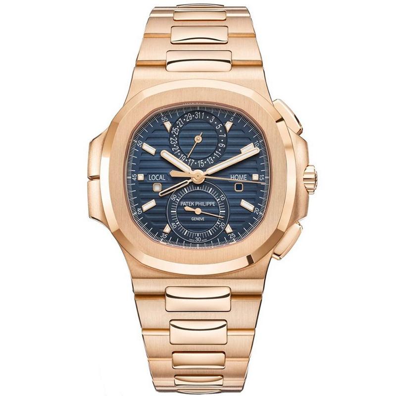 Replica Patek Philippe Nautilus Travel Time Chronograph Rose Gold 5990/1R-001