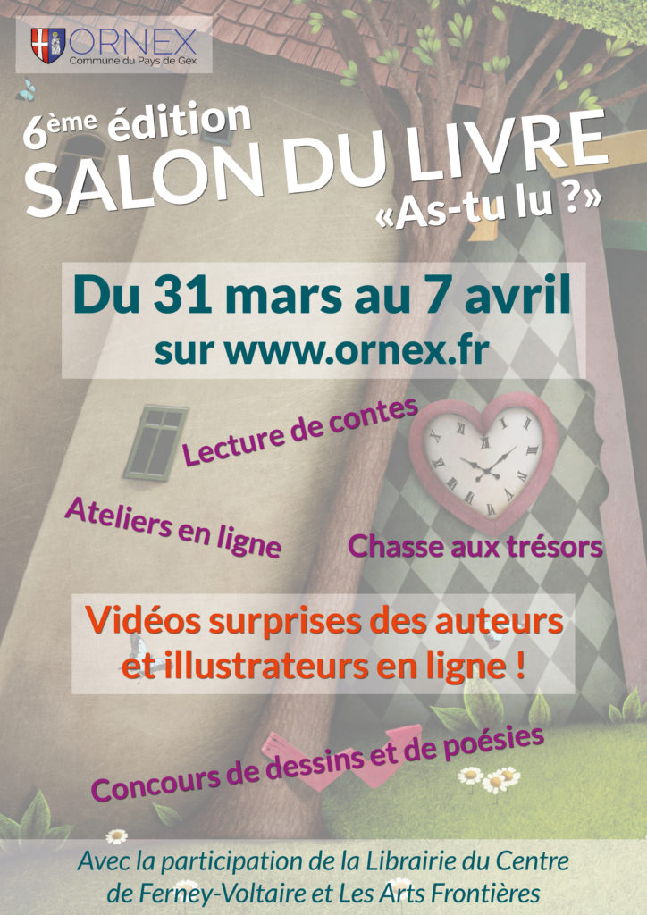 Affiche SALON DU LIVRE d'Ornex« AS-TU LU ? » 2021