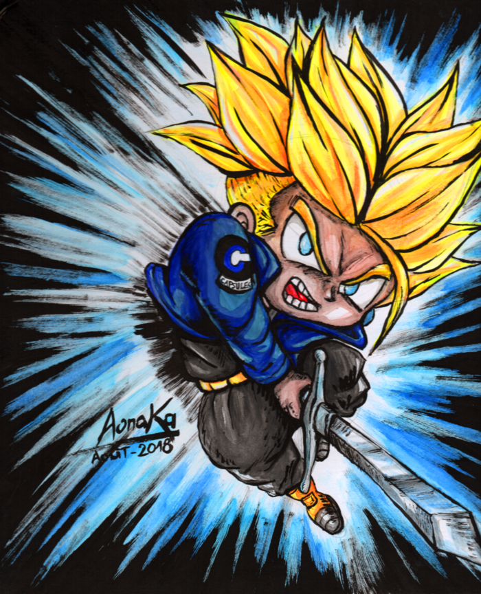 Fan Art Dragon Ball Z - Chibi Trunk 02 - ssj1