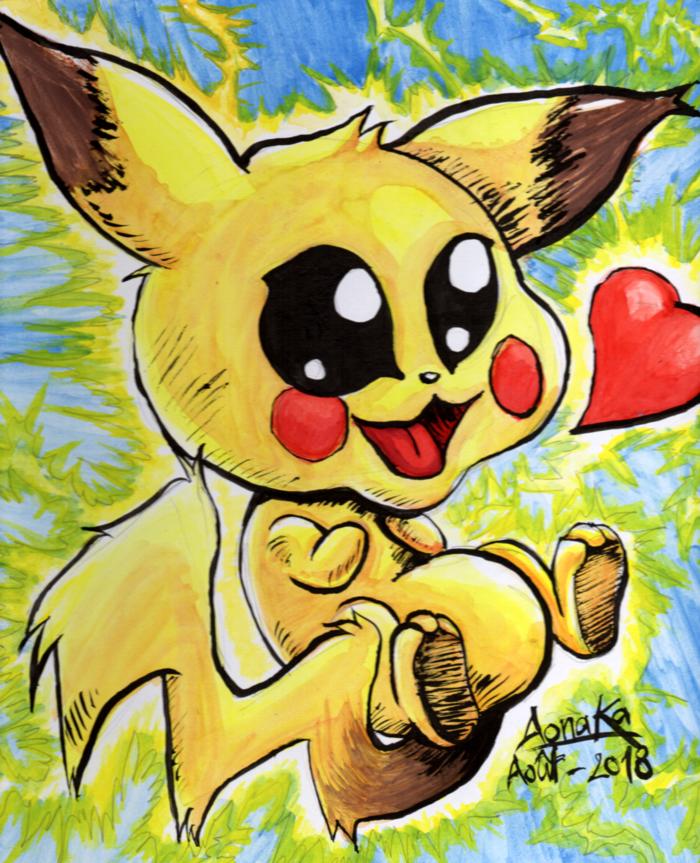 Fan Art Nintendo - Chibi Pikachu 01