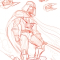 Fanart de Star Wars - Dark Vador - croquis